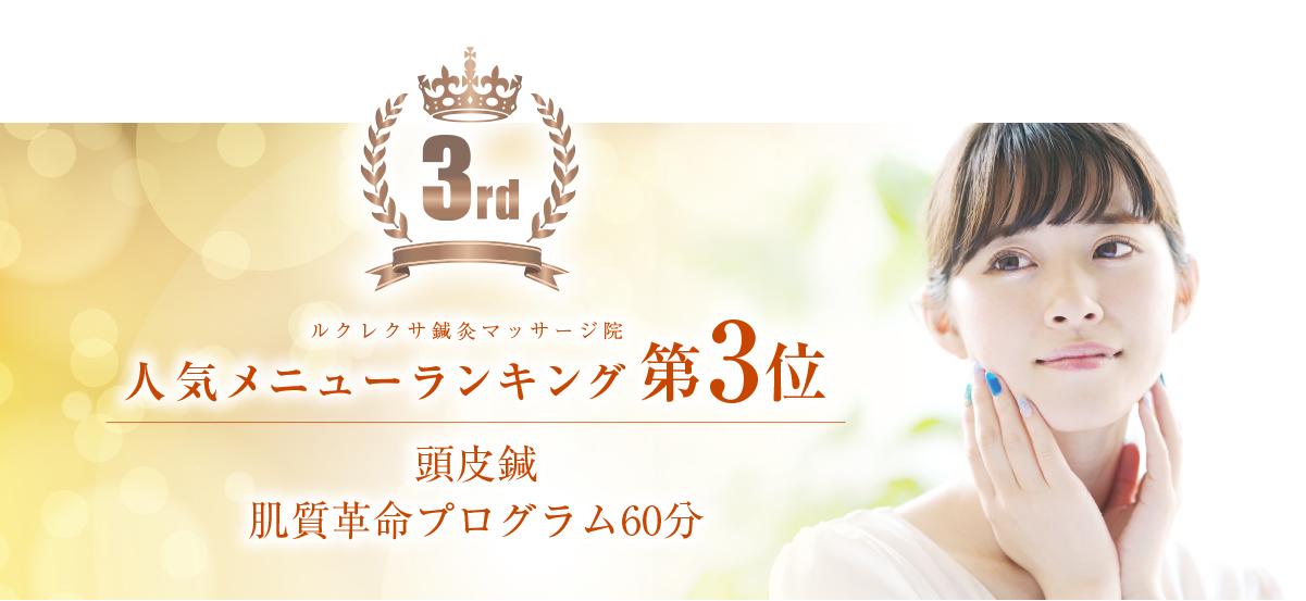 静岡ルクレクサ鍼灸マッサージ院人気メニュー3位